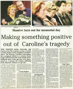 Making something positive out of Caroline's tragedy - Derry Journal - Jan 2001