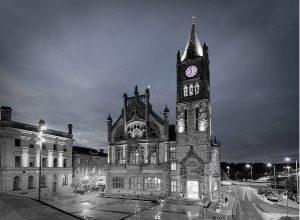 guildhall purple clock